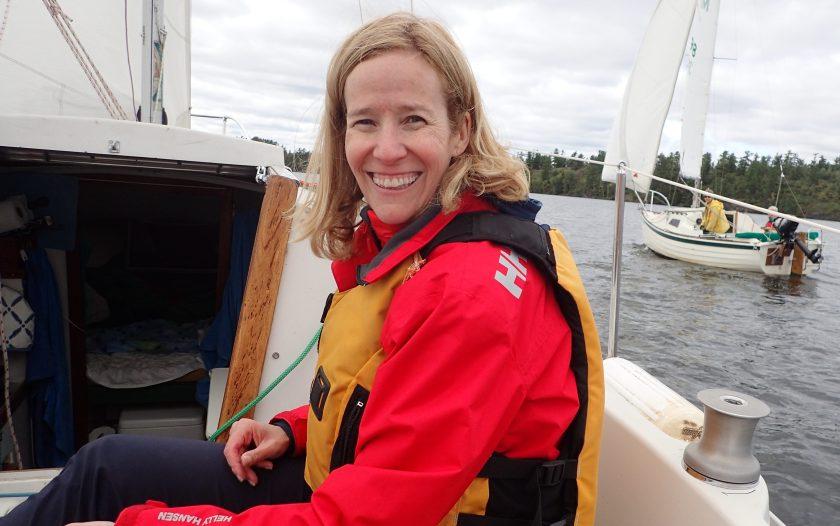 Liz sailing