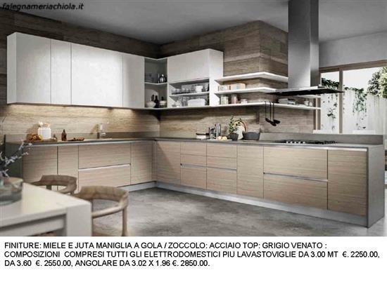 47205 prodotti per centro convenienza cucine moderne. Cucina Angolare Con Mensole A Giorno N 8 M H Falegnameria Chiola