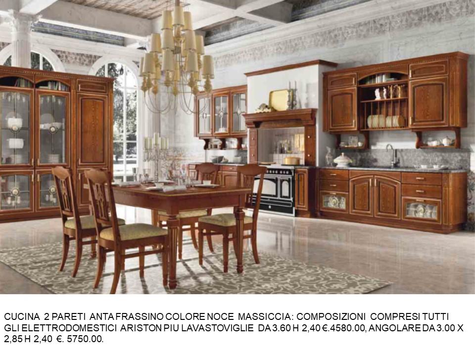 Come valutare il colore per una nuova cucina? Cucina 2 Pareti Frassino Colore Nece N 135 C H Falegnameria Chiola
