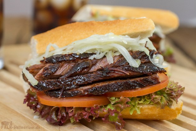 Beef Brisket (Rinderbrust) Sous-Vide USA Barbecue Sandwich