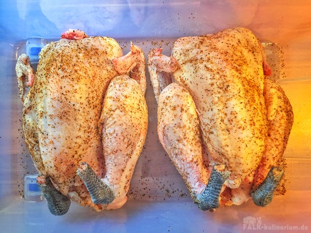 Beer Butt Chicken im Rub