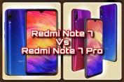 Redmi Note 7 Vs Note 7 pro