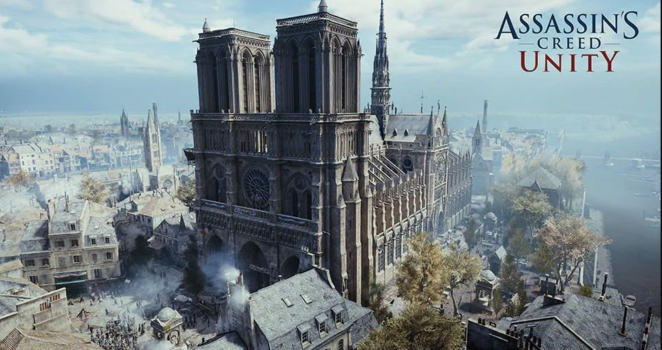 Notre Dame Cathedral in the Assassin's Creed Unity