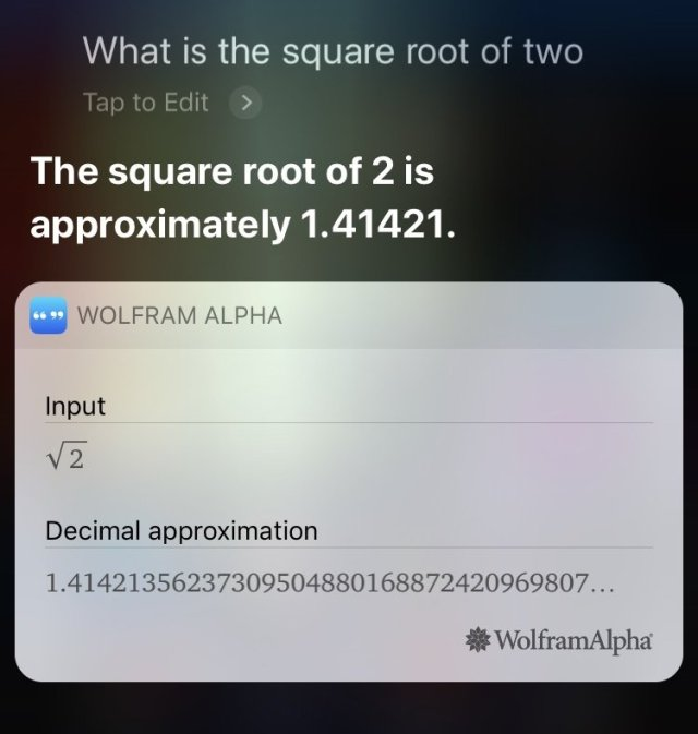 Wolfram Alpha with Siri