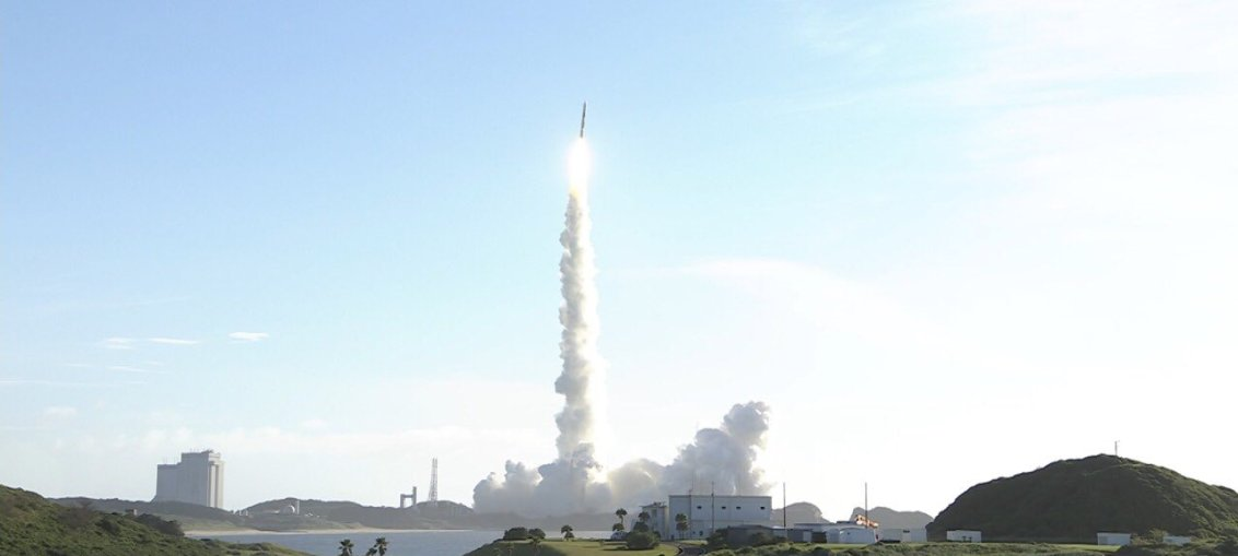 MHI H-IIA Rocket carrying UAE Hope Spacecraft launched from Tanegashima Space Center