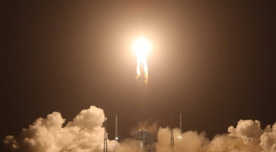 Chang'e 5 Spacecraft launched from Long March 5 Rocket from Heinan Island
