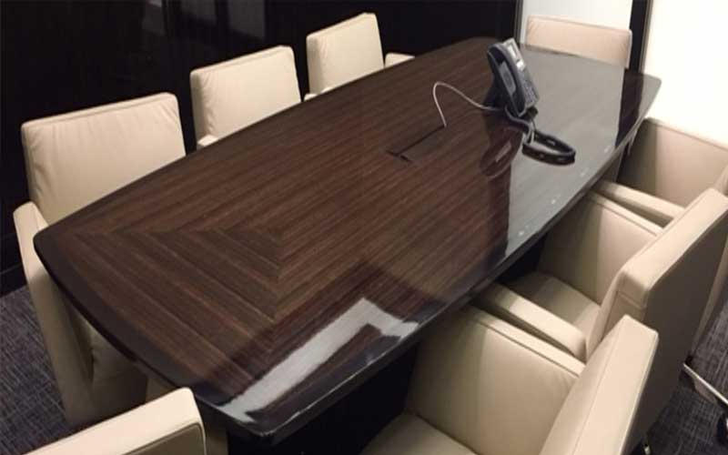 Custom-made-gloss-meeting-room-table