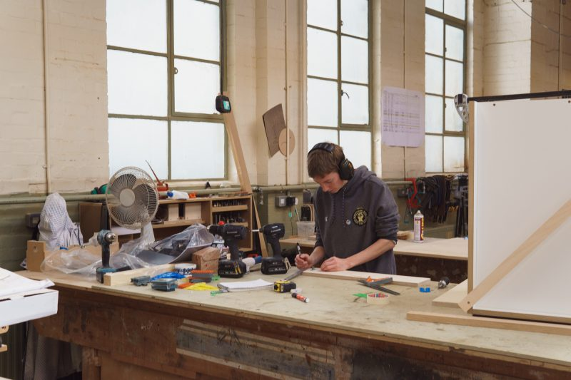 Joiner in the workshop