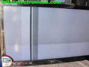 tv con pantalla blanca