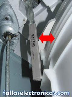 sensor de impacto de lavadora