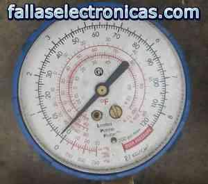 Manometro marcando R134a 2 psi