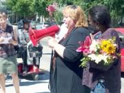 Mona Joyner at 8-16-11 dedication