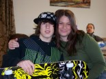 Brandi & her son Cameron, with his skateboard
