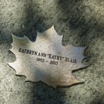 Leaf of Remembrance for Kathryn Blaie