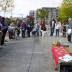 The dedication took place after the Blessing of the Animals