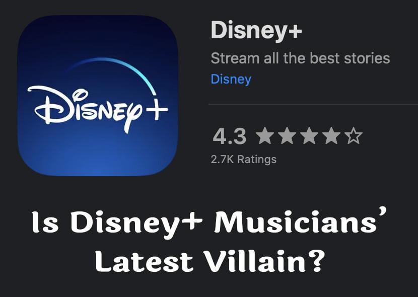 Heading: Is Disney+ Musicians' Latest Villain?