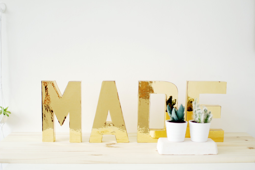 Fall For DIY Gold Letters 8