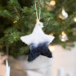 Diy Needle Felted Christmas Star Tree Ornaments Fall For Diy