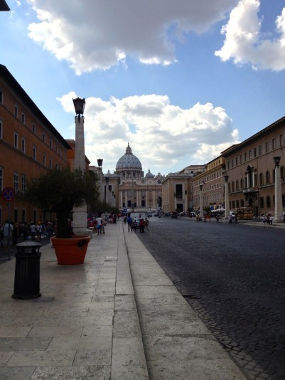 Via Conciliazione that leads to St. Peter's