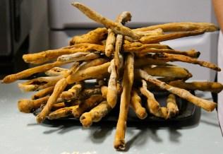 grissini! (like little, crunchy breadsticks)