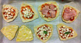 mini pizzas and our olive oil drenched focaccias
