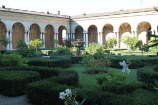 Second-story garden in Palazzo Ducale