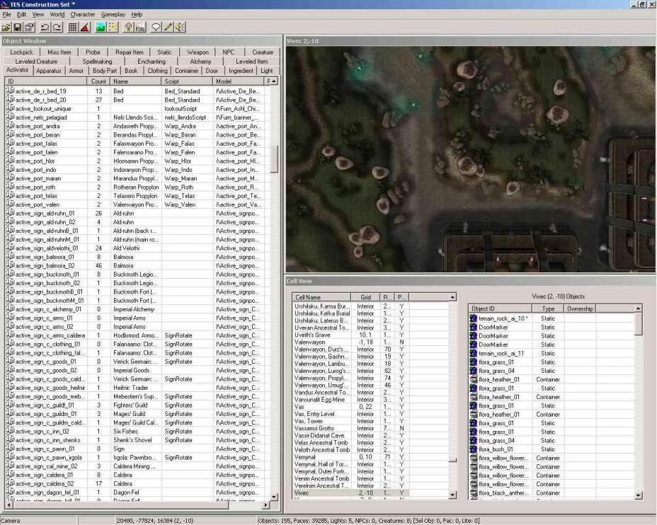 Morrowind Construction Set