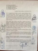 Statement from the people of Guelatao de Juárez, signed on by the municipal authorities of the Sierra Juárez.