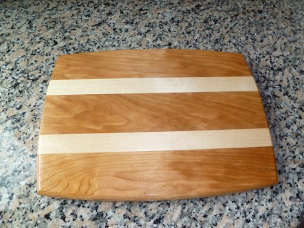 Cherry Cutting Board With Maple Stripes