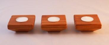 Redwood Single Tapered Tea Light Holder