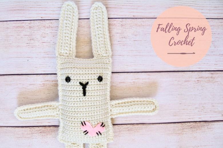 Falling Spring Crochet Ragdoll Inspired Love Bunny Crochet Pattern Sample Image