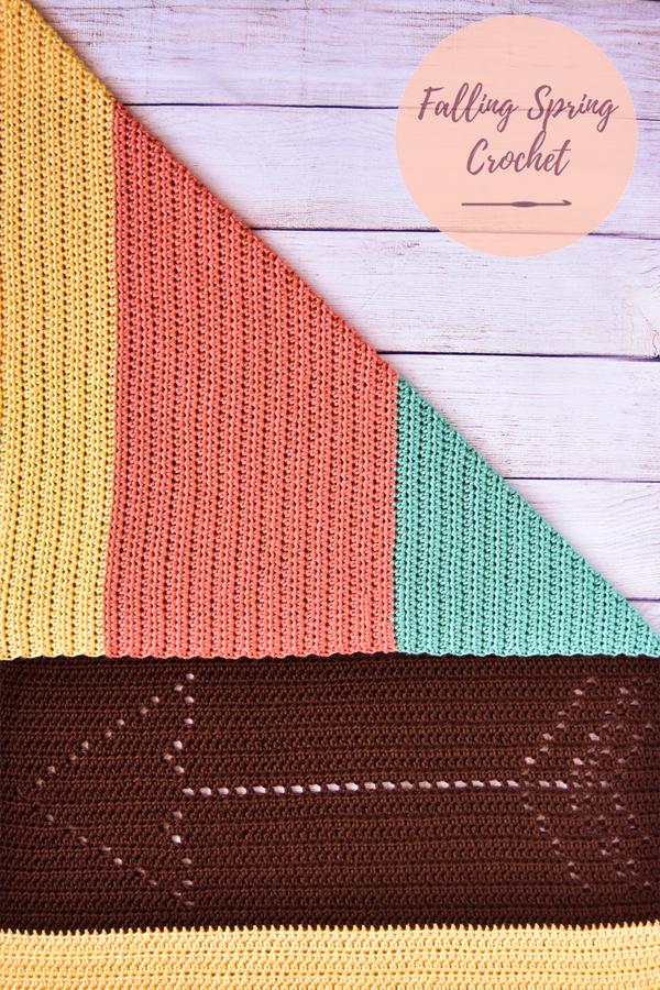 Falling Spring Crochet Gender Neutral Baby Blanket Free Crochet Pattern Featured Image for Blog