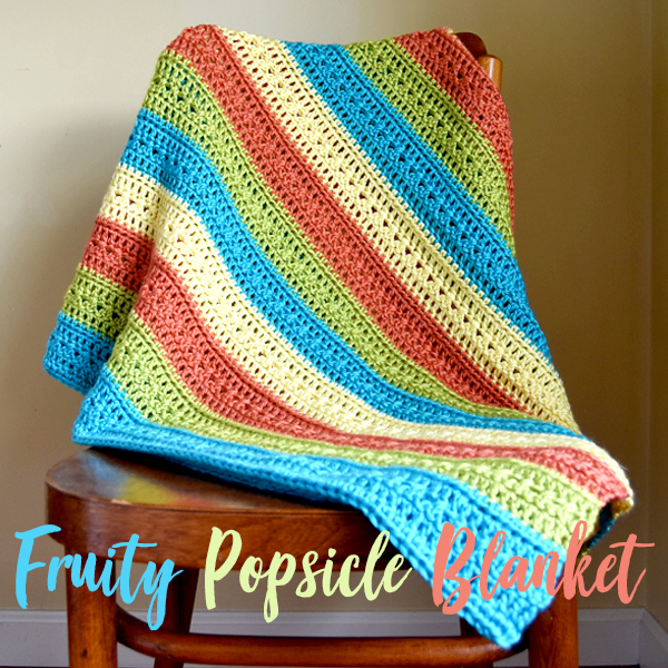 Falling Spring Crochet Fruity Popsicle Blanket Gallery Thumbnail