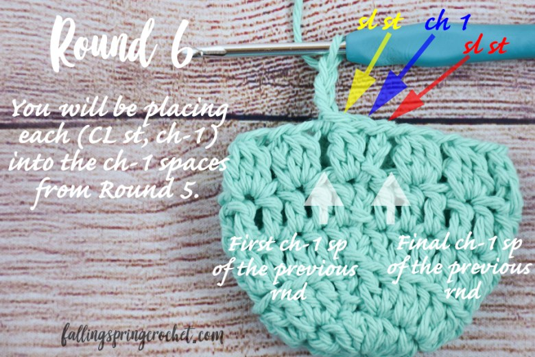 Falling Spring Crochet Water Bottle Sling Crochet Pattern Round 5