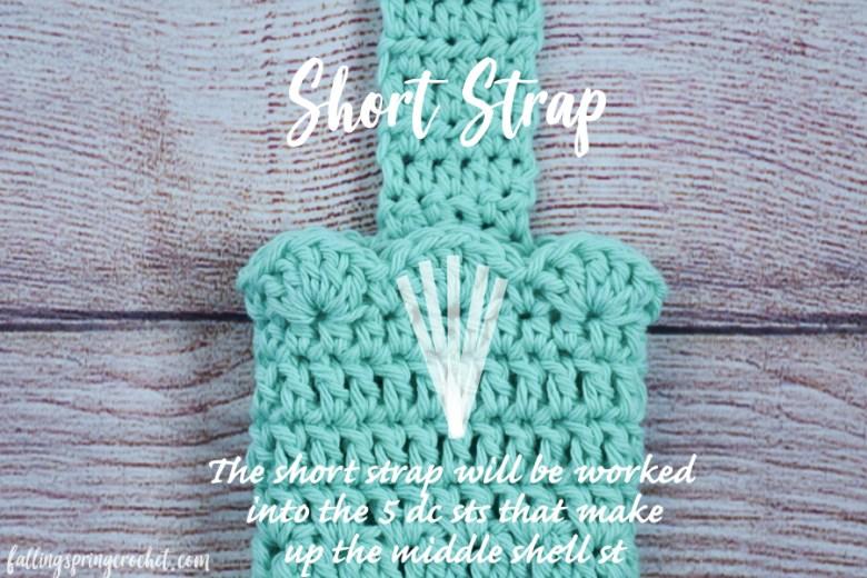 Falling Spring Crochet Water Bottle Sling Crochet Pattern Row 1 Short Strap Image