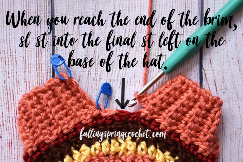 Falling Spring Crochet Fall Baby Beanie How to Finish the Brim