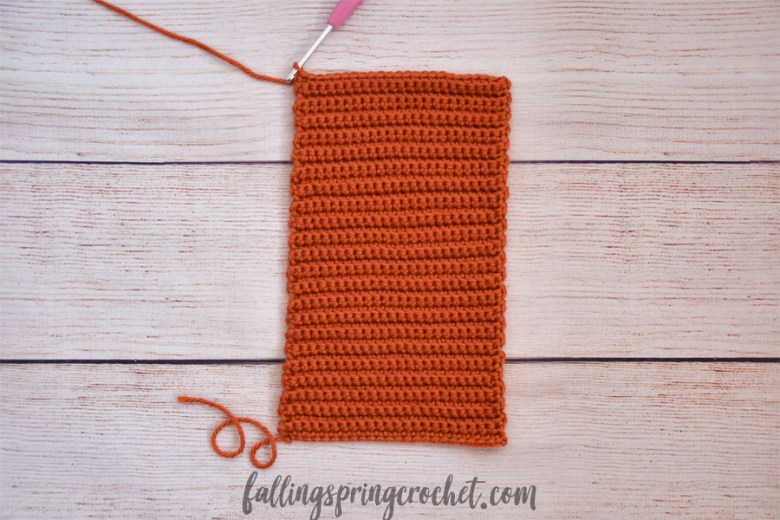 Falling Spring Crochet Easy Crochet Pumpkin Panel Image