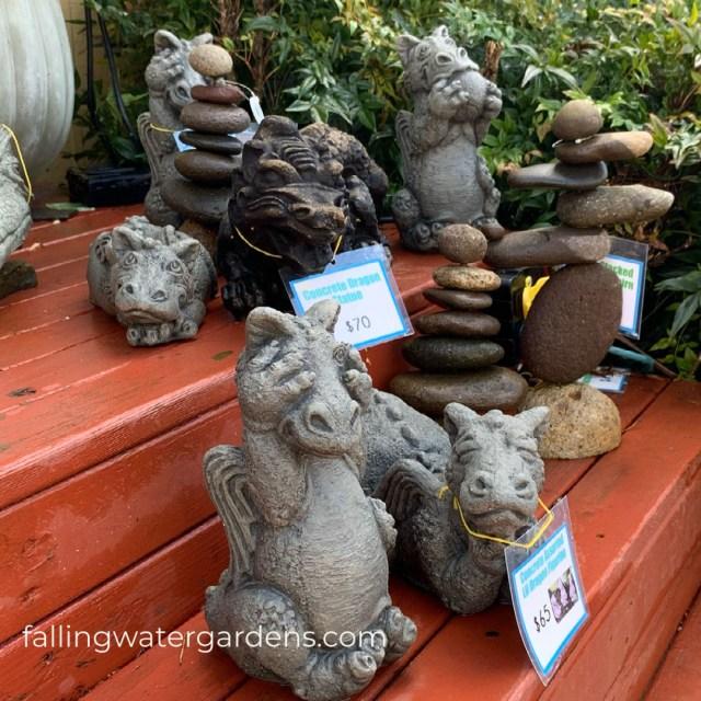 Dragon Statues at Falling Water Gardens in Monroe Washington