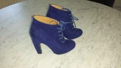Blauw suede enkellaarsjes - GuessWhat! tweedehands schoenen maat 36 online