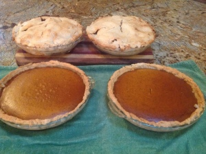 Apple and pumpkin pies
