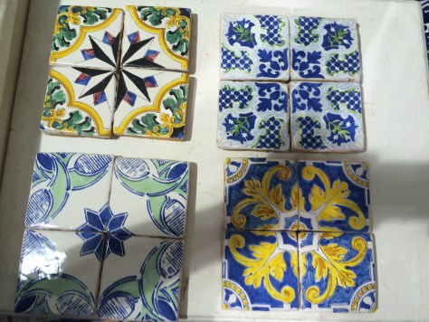 Kat's tiles from shopping.  Photo by Kat.