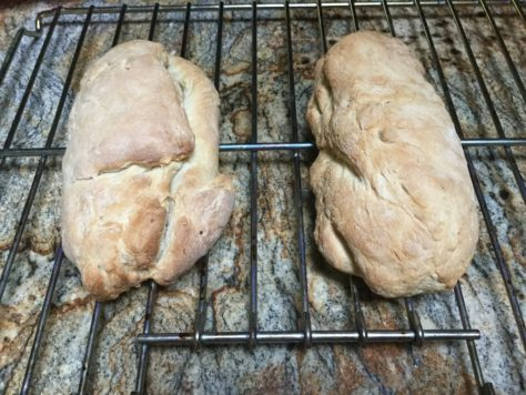 Italian bread, fresh from the oven.