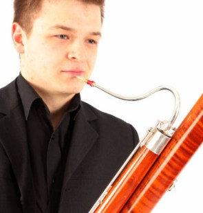 Bartosz Kwasecki is young bassoon and contrabassoon player. He was born in Poland where he earned his Master's degree at the Academy of Music in Wrocław. He has played with such artists as: Sir Neville Marriner, Arabella Steinbacher, Alena Baeva and Peter Jablonski and has played in prestigous European concert halls such as the Royal Festival Hall, Berlin Philharmonic and Teatro Real in Madrid.