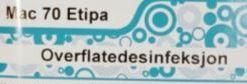 Mac 70 Etipa - 1L-merke - overflatedesinfeksjon - Macserien