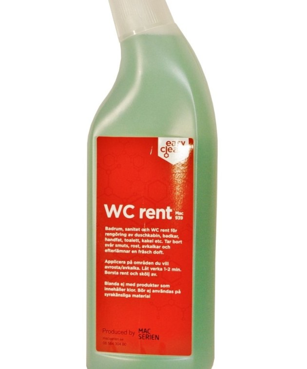 Mac 939 Wc Rent-sanitetsrent-rengjøringsmiddel-Macserien