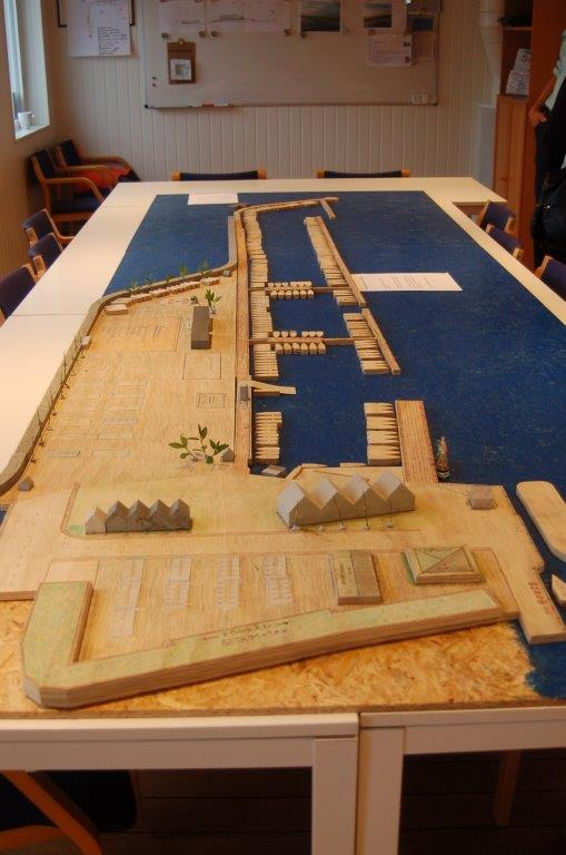 Modell hamn