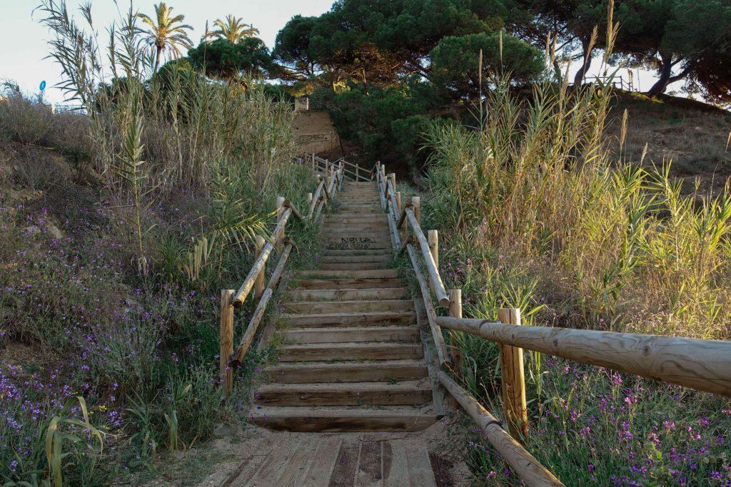 calella-roca-grossa-strand-treppe