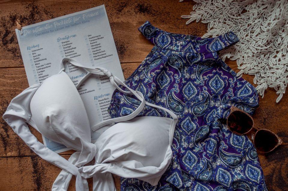 Die ultimative Packliste für Frauen | + Checkliste zum ausdrucken
