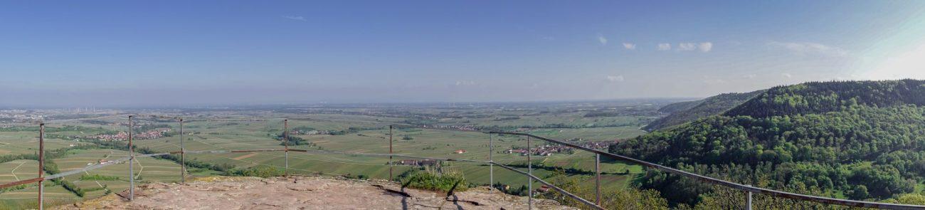 Landau-pfalz-burg-neukastel-wanderung-ausblick
