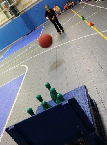 bowling basketball